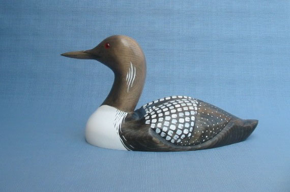 Wood Carving - Classic Handcarved Arctic Loon Decoy