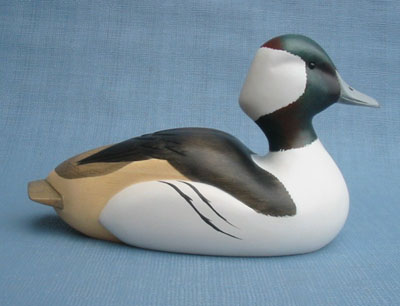 Robert Kelly Wood Carving - Classic Handcarved Bufflehead Drake Decoy