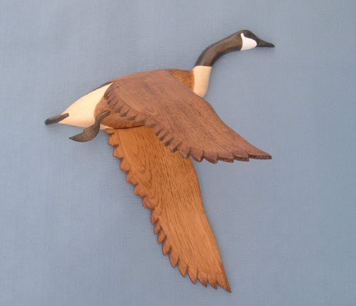 Wall Mount Canada Goose Wings Down Head Up Decoy