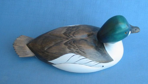 Wood Carving - Handcarved Common Goldeneye High Neck Drake Decoy